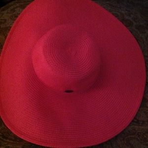 Hot Pink Women's Sunhat with wide brim